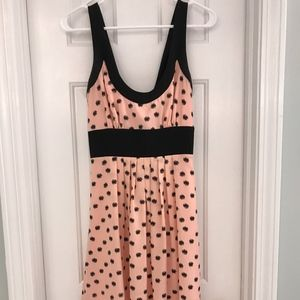 Pink / Black Dots High Low Dress Bow in Back Sz 4
